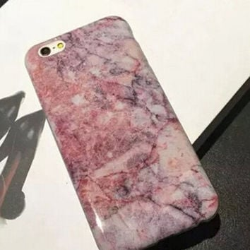 Pink Marble iPhone 7 7Plus & iPhone 6s 6 Plus Cases + Gift Box