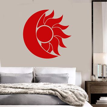 Vinyl Wall Decal Abstract Moon Sun Room Decoration Stickers (2267ig)