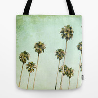 Palm Trees (California Dreaming III) Tote Bag by Mareike Böhmer Graphics