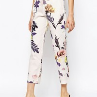 ASOS PETITE Texutred Floral Tapered Trouser Co-ord