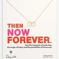 Dogeared 'Then, Now, Forever' Boxed 3-Ring Pendant Necklace