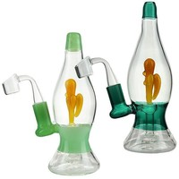 "7.5"" Water Pipe Rig  Lava Lamp Design"