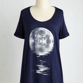 Cosmic Long Short Sleeves A-line Step in the Right Reflection Top