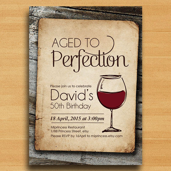 Best Aged To Perfection Invitations Products On Wanelo