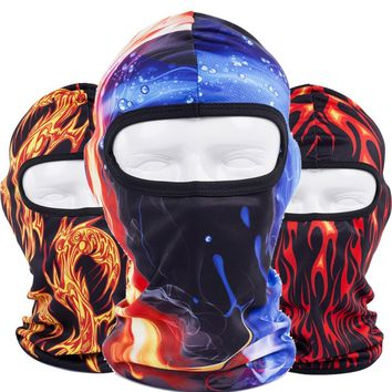 Colorfull Balaclava Bicycle Hats Cap Tactical Airsoft Paintball Snowboard Winter Warmer Helmet Liner Full Face Mask Men Women