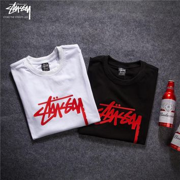2018 Stussy Women Men Fashion Casual Shirt Top Tee