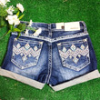 GRACE IN L.A. DIAMOND POINT EASY SHORTS