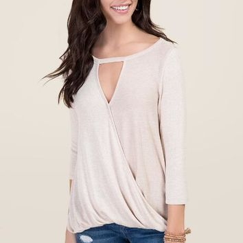 Bella Gigi Neckline Surplus Top