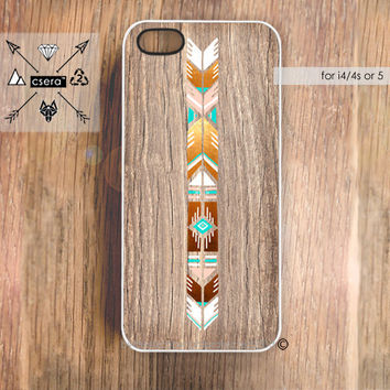 iPhone Case Wood Print Unique iPhone 5 Case by casesbycsera