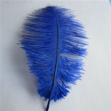Decorative Ostrich Feathers, 15-inch, 1-feather, Royal Blue
