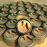 Wedding or Bridal Shower Favor Candles Travel Tin Gift Sample