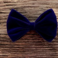 Big Blue Premium Velvet Bow