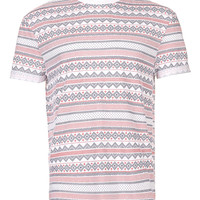 BLOCK PATTERN LOW ROLL T-SHIRT - 30% off Selected Lines - Offers - TOPMAN