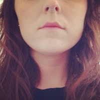 Double Plain Septum Ring Cuff Sterling Silver  Simple Minimal Fake Nose Piercing Non Piereced also in gold and rose gold