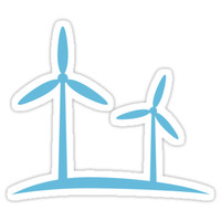 'Wind power, simple icon logo sticker' Sticker by Mhea