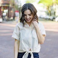 Knot My Fault Striped Button Up Shirt