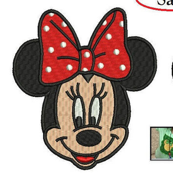 Minnie Mouse Embroidery Design - 2 designs of Minnie Mouse machine embroidery INSTANT DOWNLOAD
