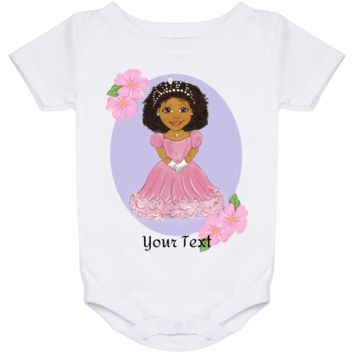 Personalized Baby Onesuit 24 Month African American Princess Design