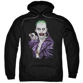 ac spbest Suicide Squad - Blade Adult Pull Over Hoodie