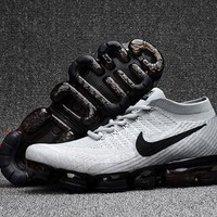 Nike Men's Air Vapormax Flyknit 2018 White/Black Basketball Sneaker