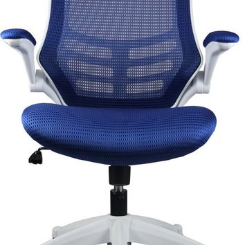 Lenox Mesh Adjustable Office Chair in Royal Blue