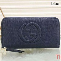 GUCCI 2018 New Women's Fashion Leather Waist Bag Shoulder Bag F-a-BBPFCJ Blue