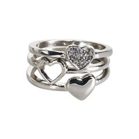Heart Ring 3-Pack