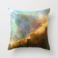 Bright nebula galaxy stars sagittarius constellation hipster geek cool space star nebulae NASA photo Throw Pillow by iGallery