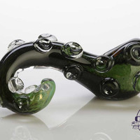 Deep Sea Green Kracken Tentacle Glass Pipe