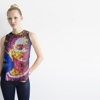 FLORAL FRIDA SLEEVELESS TOP