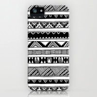 Black and White Tribal  iPhone & iPod Case by hyakume