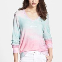 Wildfox 'Heaven Clouds' Knit V-Neck Sweater