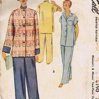 Vintage Sewing Pattern, Womens Pajamas, Uncut Factory Folded, McCall 8190