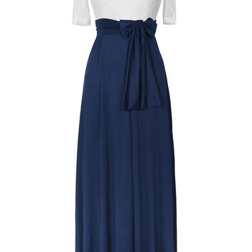 Cupshe Dance Potential Lace Splicing Maxi Dress