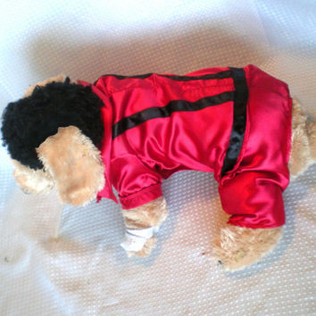 "Dog Costume,  ""Michael Jackson"" Dog Costume, Halloween For Pets,"