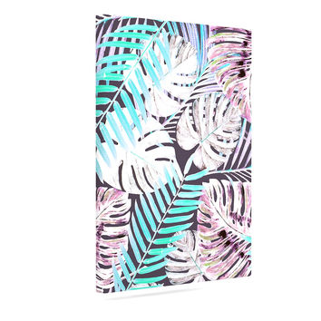 "Alison Coxon ""Midnight Jungle"" Pink Blue Canvas Art"