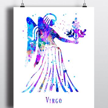 Virgo Astrology Art Print - Unframed