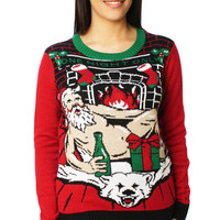 Ugly Christmas Sweater Women's One Night Only LED Light Up Sweater