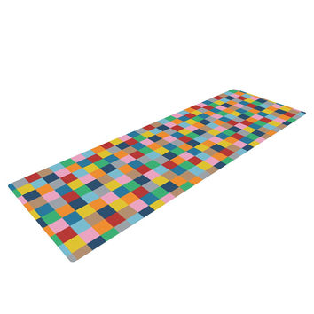 "Project M ""Colour Blocks"" Geometric Rainbow Yoga Mat"