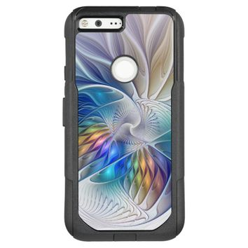 Floral Fantasy, Colorful Abstract Fractal Flower OtterBox Commuter Google Pixel XL Case