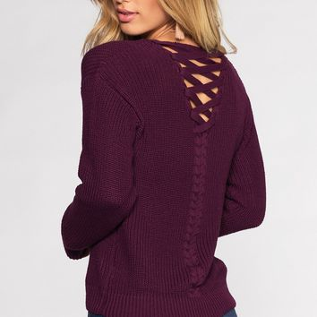 Campfire Cutie Sweater - Plum