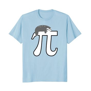 Pi Day 2018 Shirt Girls Women Kids Sloth Math Nerd Gift