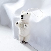 Felt Animal Ornament - Polar Bear