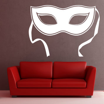 Wall Stickers Vinyl Decal Mask Еnigma Mystery Secret Theater decor  Unique Gift (z2001)
