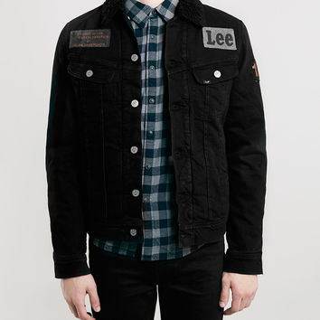 Lee Black Denim Sherpa Jacket - Men's Jackets & Coats - Clothing