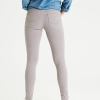 AEO Denim X Super Low Jegging, Gray