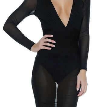 211 Bandage Dress -  Black