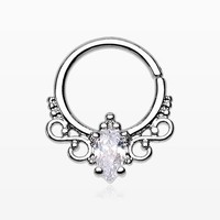 Princess Filigree Sparkle Septum Twist Loop Ring