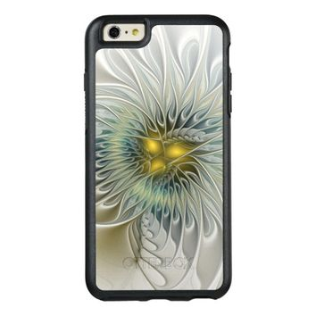 Golden Silver Flower Fantasy abstract Fractal Art OtterBox iPhone 6/6s Plus Case