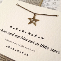 Shakespeare Quote Star Charm Necklace